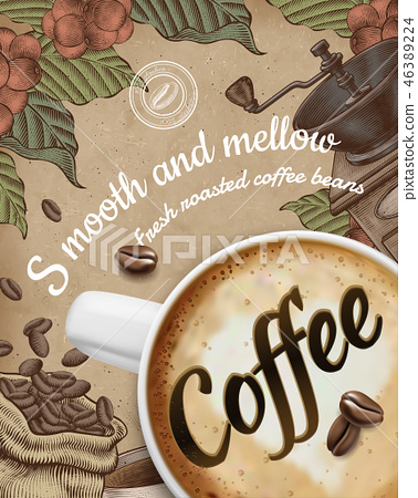 Coffee poster ads 46389224