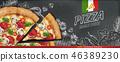 广告 黑板 粉笔板 46389230