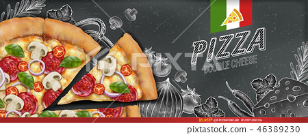 Pizza banner ads 46389230