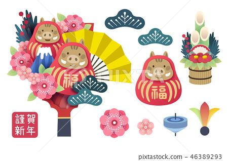 Japanese new year 46389293