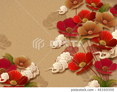 Elegant floral background 46389300