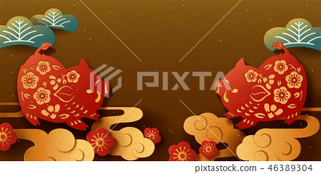 Japanese New Year banner 46389304