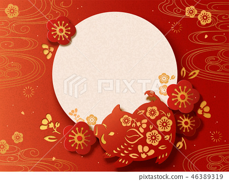 Japanese New Year card 46389319
