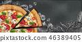 广告 黑板 粉笔板 46389405