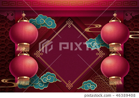 Chinese lunar new year background 46389408