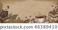 咖啡 咖啡豆 杯子 46389410