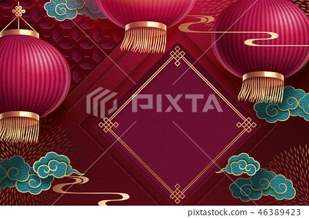 Chinese lunar new year background 46389423