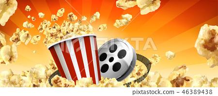 Caramel popcorn banner ads 46389438