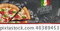 广告 黑板 粉笔板 46389453