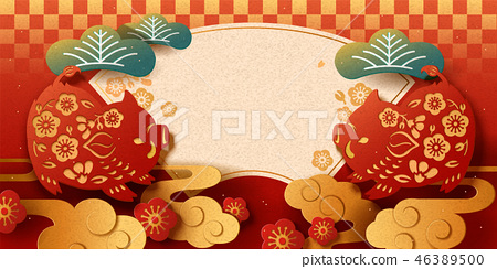 Japanese New Year banner 46389500