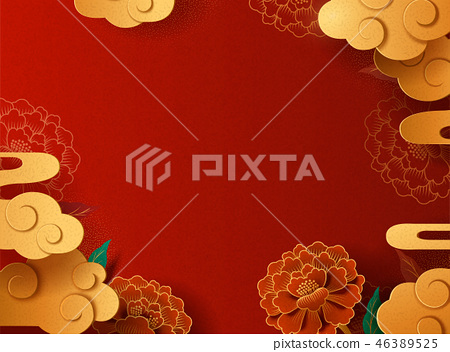 Graceful paper art background 46389525