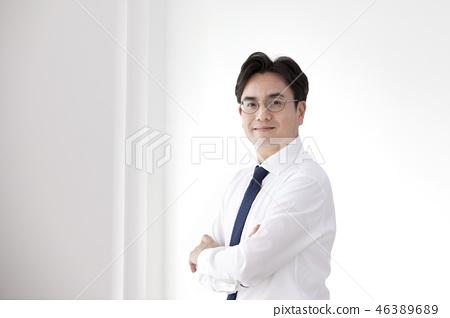 한국인,비즈니스,남자 46389689