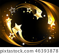 Glowing background with golden comets 46393878