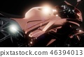 moto sport bike in dark studio with bright lights 46394013