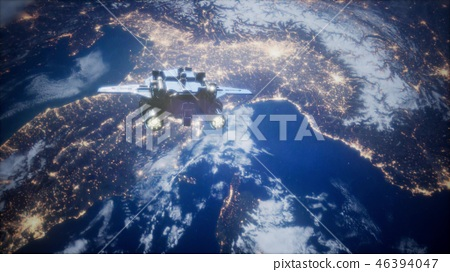 Space Shuttle above the Earth 46394047