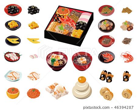 食物插圖[Obushi美食,ozoni,湯粉圖標集]① 46394287