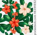 ดอกไม้,ไร้รอยต่อ,เวกเตอร์ 46394692