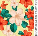 ดอกไม้,ไร้รอยต่อ,เวกเตอร์ 46394694