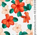 ดอกไม้,ไร้รอยต่อ,เวกเตอร์ 46394698