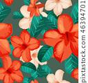 ดอกไม้,ไร้รอยต่อ,เวกเตอร์ 46394701