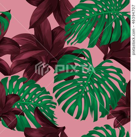 tropical plant pattern 46394707