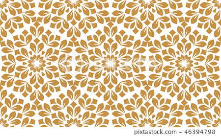 Flower geometric pattern. Seamless background.  46394798