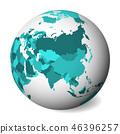 globe map earth 46396257