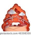 landscape,cartoon,illustration 46398300