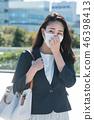 有面具的女商人年輕日本婦女 46398413