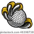 golf, claw, hand 46398738