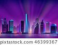 neon, city, skyscraper 46399367