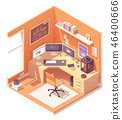 Vector isometric 3d artist workplace 46400666