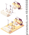isometric, studio, Workplace 46400668