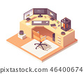 Vector isometric 3d artist workplace 46400674