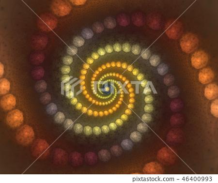 Colorful bubbles spiral vortex. 46400993