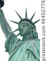 Lady Liberty isolated 46402776