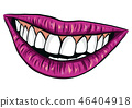 mouth vector lips 46404918