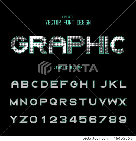 Font and alphabet vector, Bold typeface letter 46405359
