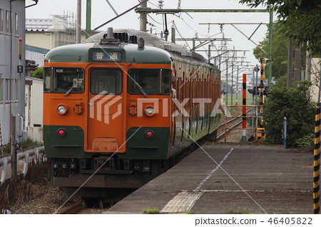 Echigo Line 115 series (Shonan color) near the end 46405822