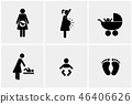 pregnant, icon, pictogram 46406626