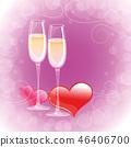 champagne romantic drink 46406700