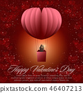 Happy valentines day greeting cards 46407213