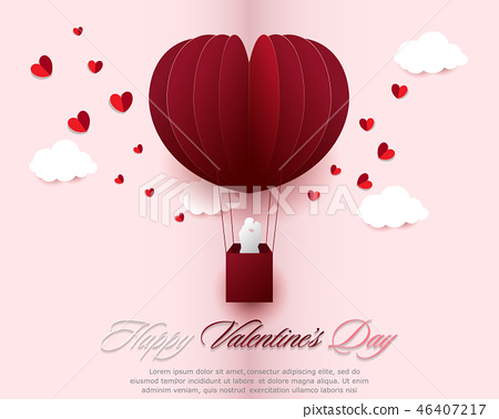Happy valentines day greeting cards 46407217