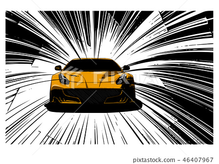 speed Super Car Vector illustration in the road 46407967