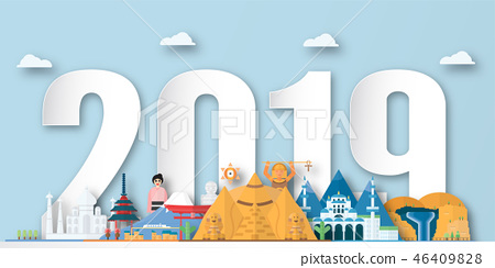 Happy New Year 2019 background. 46409828