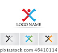 X Letter Logo Template vector icon design.. 46410114