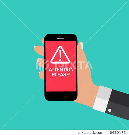Attention please concept of important announcement 46410178