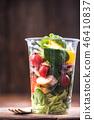 Chicken and vegetable salad, healthy brunch 46410837
