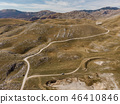 Rural road in unspoiled hills and steppe in Bosnia 46410846