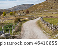 Remote rural road in Bosnia mountains 46410855